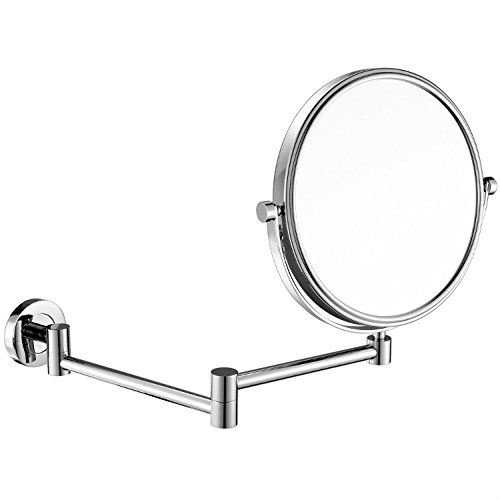 Gurun 8 Inch Two Sided Swivel Wall Mounted Mirror Vanity Mirror With 10x Magnification Chrome Finish Wall Mounted Makeup Mirror Double Mirror Magnifying Mirror