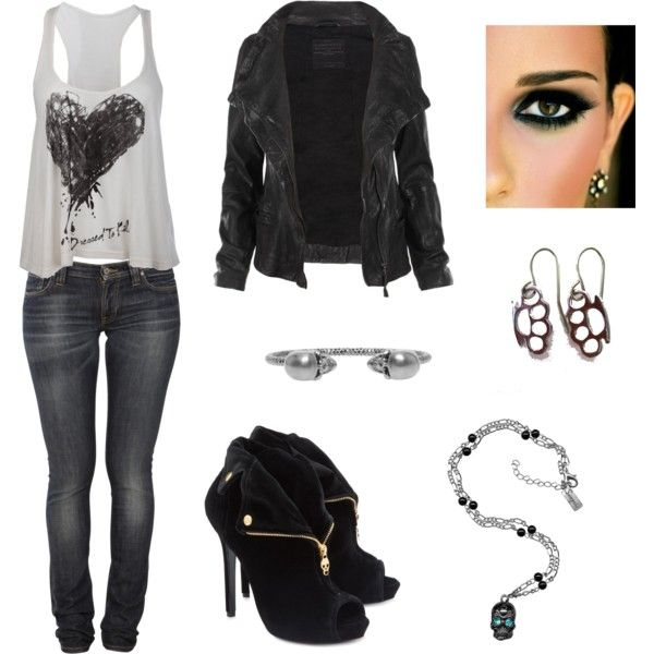 Rock and Roll. Love this outfit   Outfits - Jeans & Dark ...