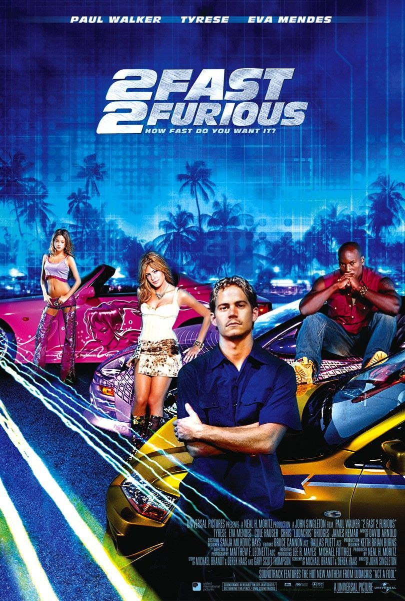 2 fast 2 furious starring paul walker tyrese gibson cole hauser eva
