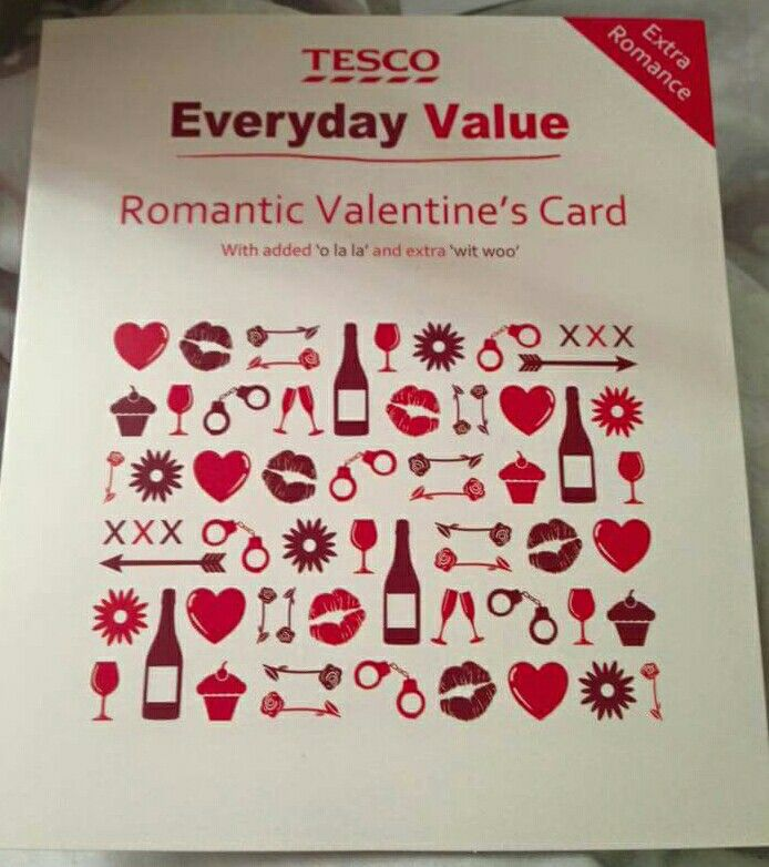 Tesco everyday value valentines card | Funnies (some adult content ...