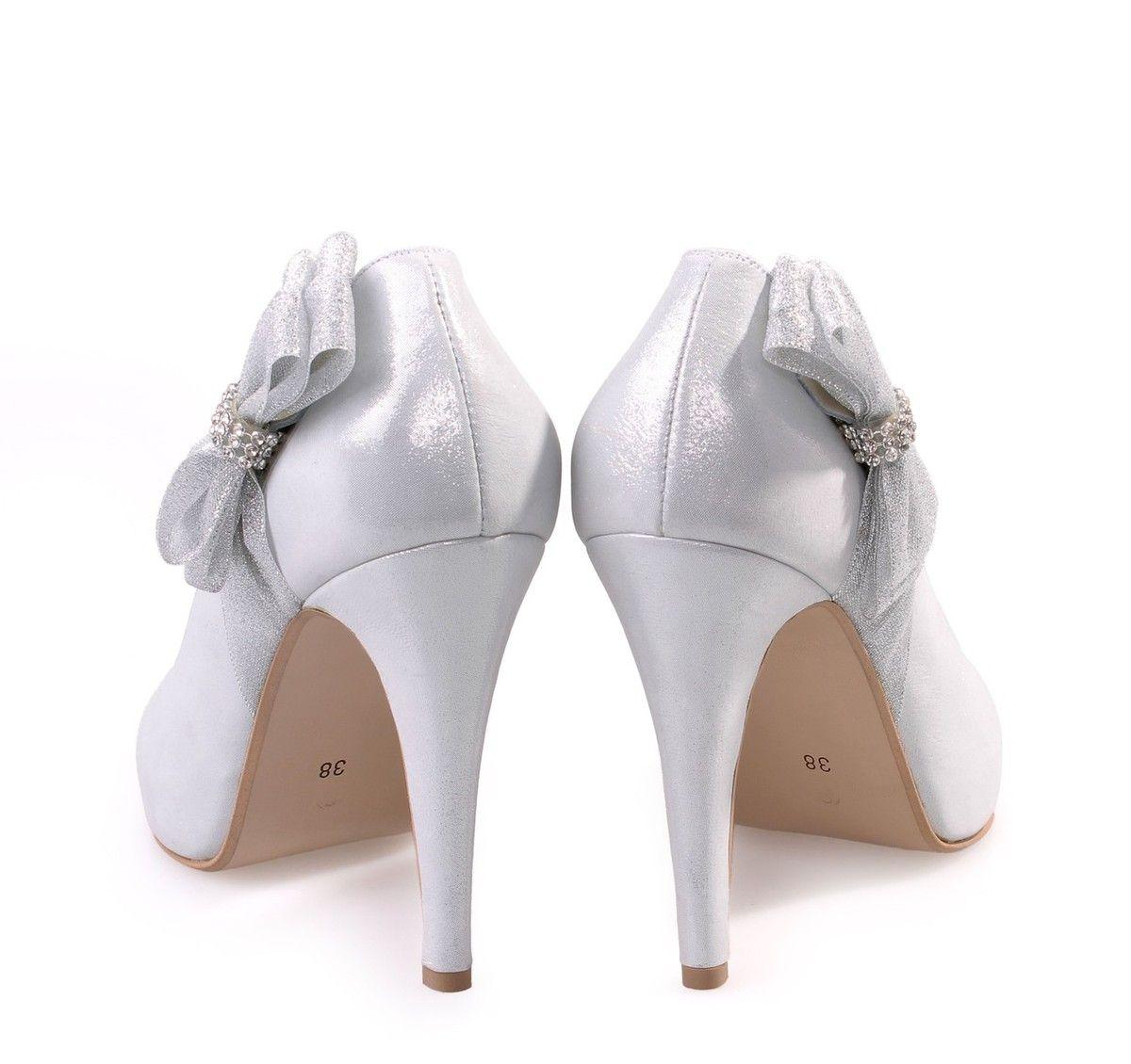 92f2bf7b461 SAGIAKOS Silver Leather Bridal Pumps. Γυναικείες ασημί δερμάτινες νυφικές  γόβες.