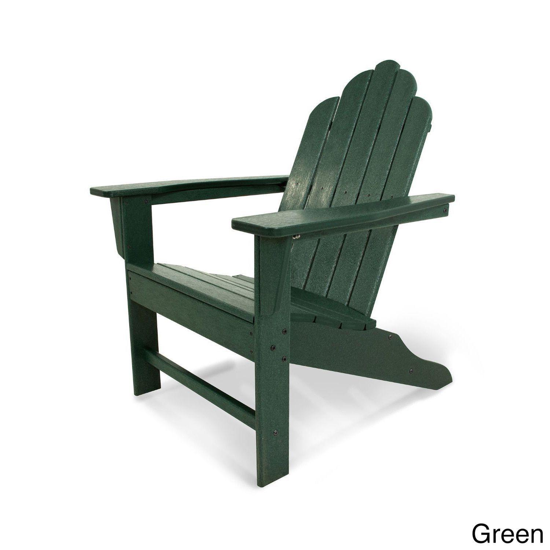 Strange Long Island Polywood Adirondack Chair Green Size Single Theyellowbook Wood Chair Design Ideas Theyellowbookinfo