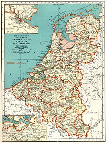 items similar to vintage map of netherlands belgium on etsy