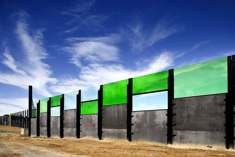 Emerald Green Acrylic Panels Make This Freeway Noise