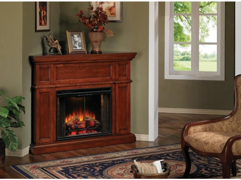 Pleasant Corner Electric Fireplaces Artesian Cherry Corner Electric Home Interior And Landscaping Oversignezvosmurscom