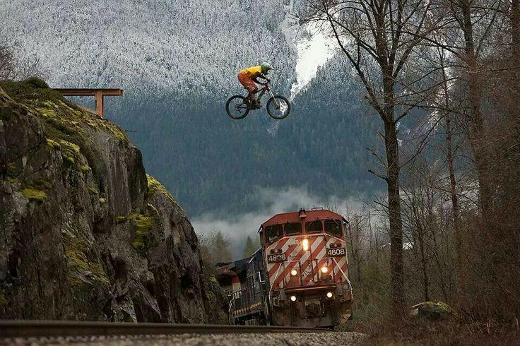 Afbeeldingsresultaat voor downhill jump over train Follow for follow ... e2b907713