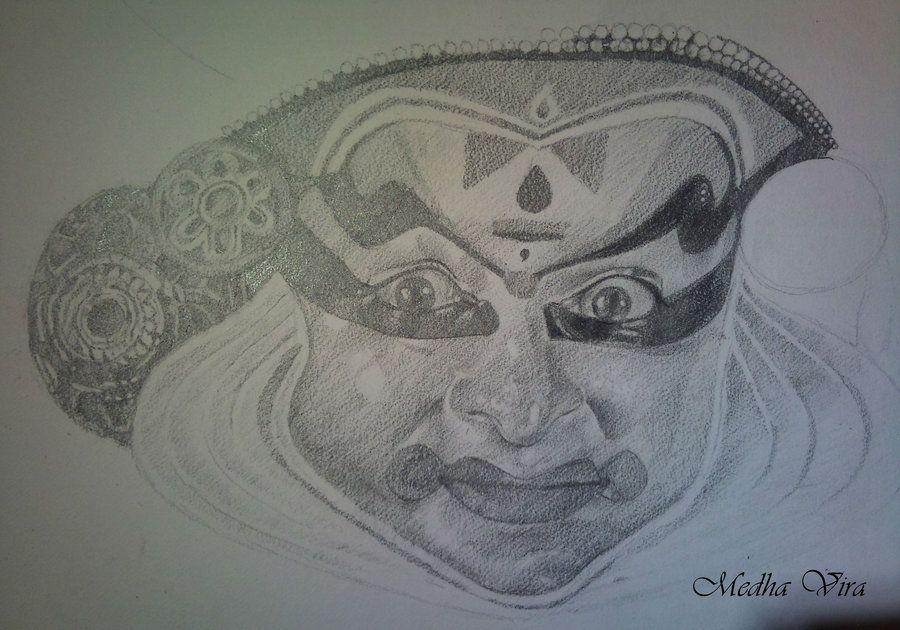 Kathakali Dancer Dancer Art Drawings