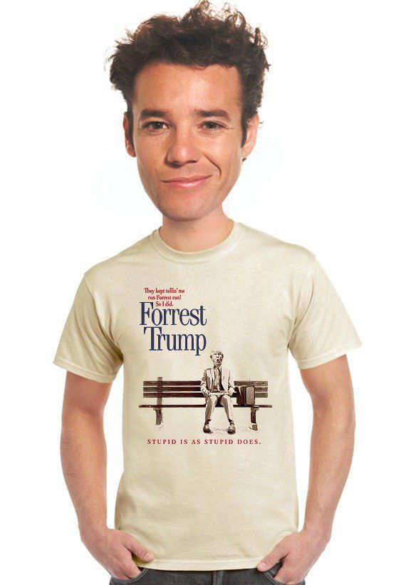 e0ace68dc forrest trump t-shirt, forest gump, funny political tee, political junkie,  politics, graphic tee, t-