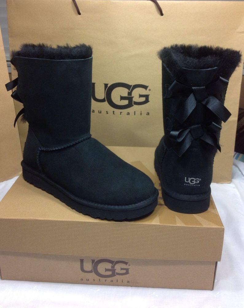 a73d1c8657b UGG Australia Women's Bailey Bow Black Color U.S Size 7 Model ...
