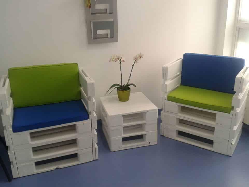3 conjuntos de mesas y sillas con palets ideas - Sillas con palets ...