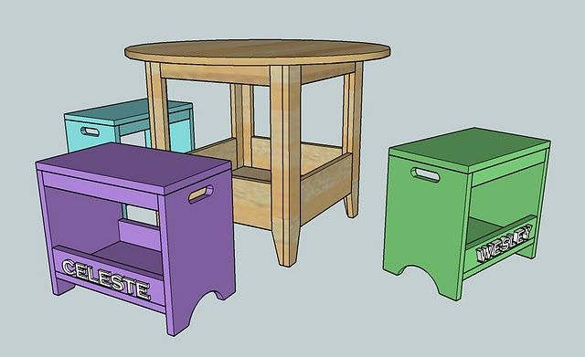 ana white build a plan kids storage play table free and easy diy