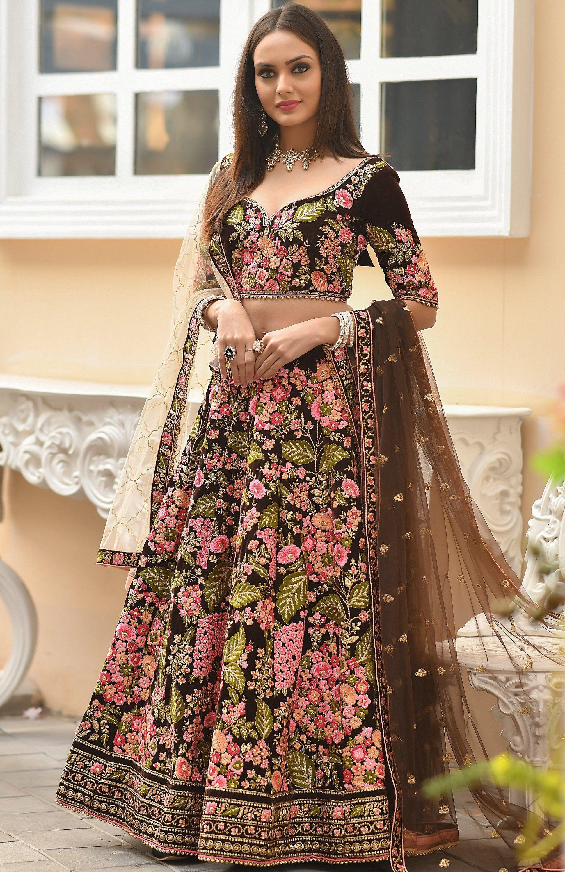 Indian black salwar suit dupatta wedding party wear suit indian lengha choli readymade lehenga