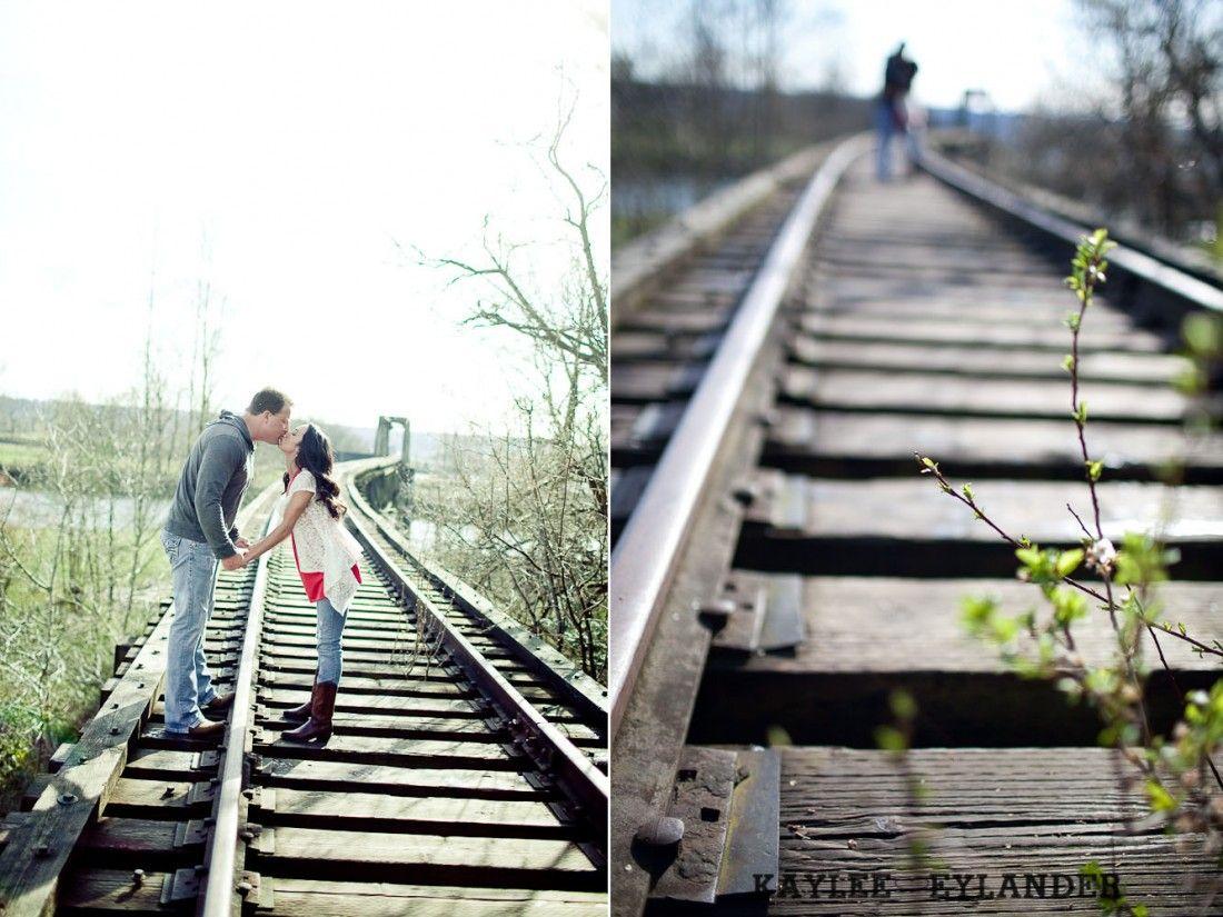 railroad track engagement sessionkaylee eylander