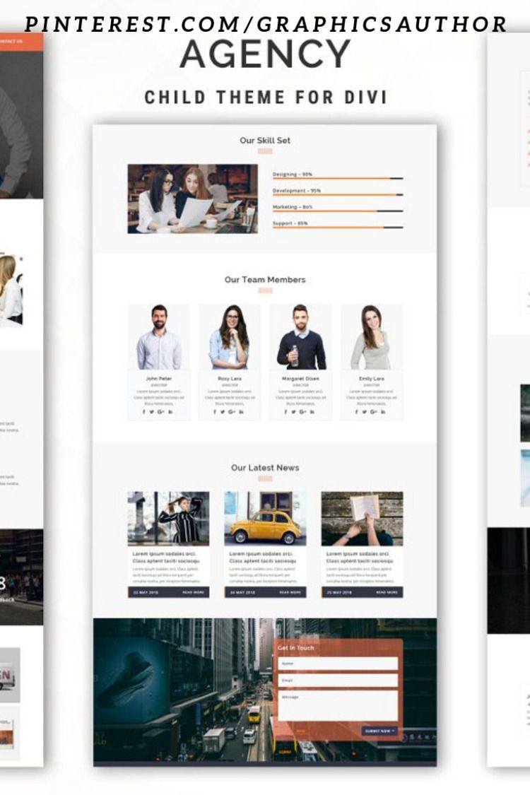 Features: Responsive Design Simple and Elegant Multipage