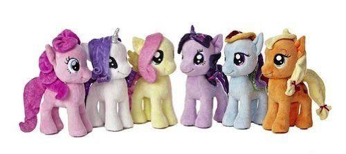 8e433dd87c3 Ty Beanie Babies My Little Pony Friendship Magic Set of 6 Plush ...