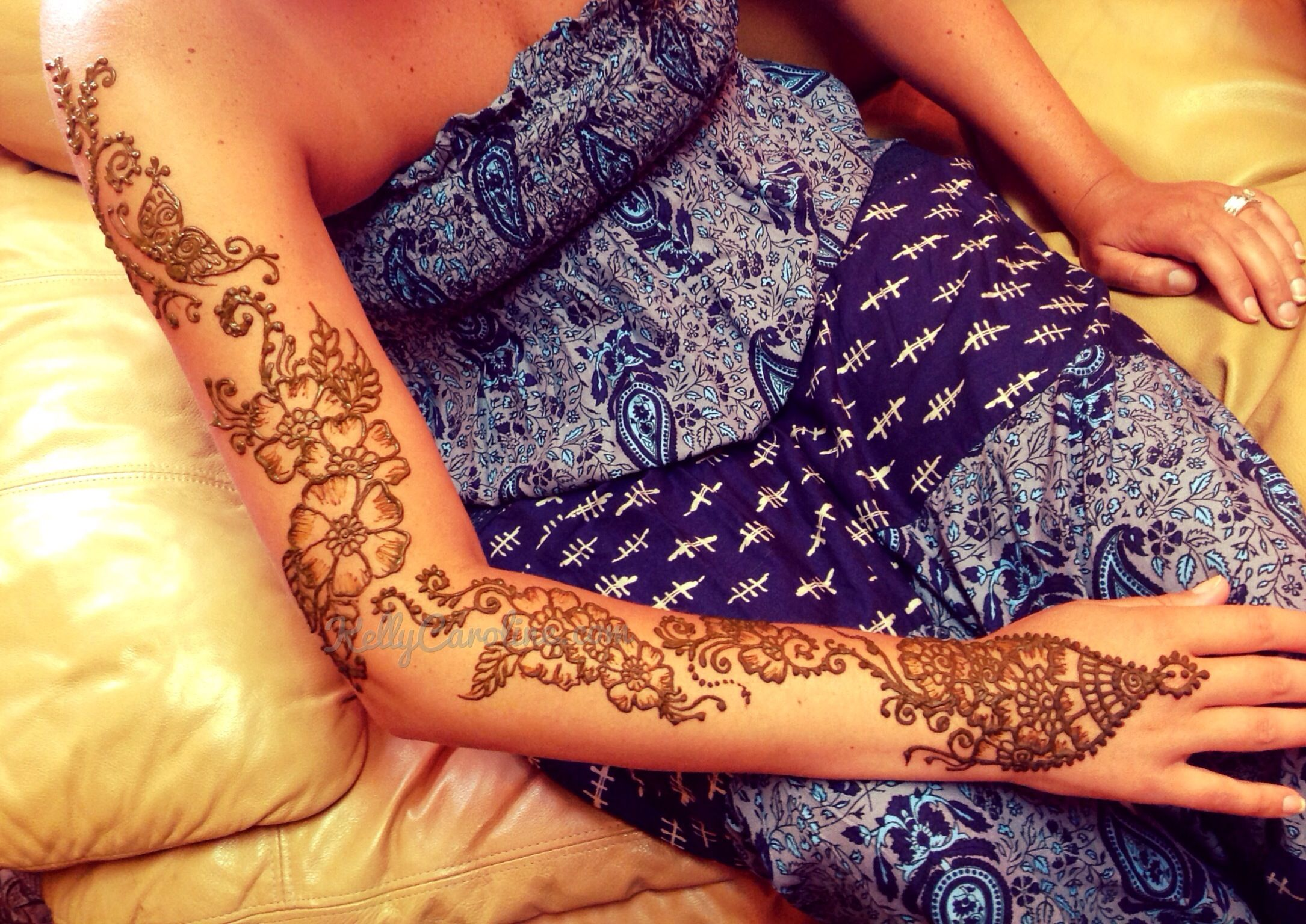 Mehndi Flower Image : Henna tattoo sleeve with flowers michigan mehndi artist