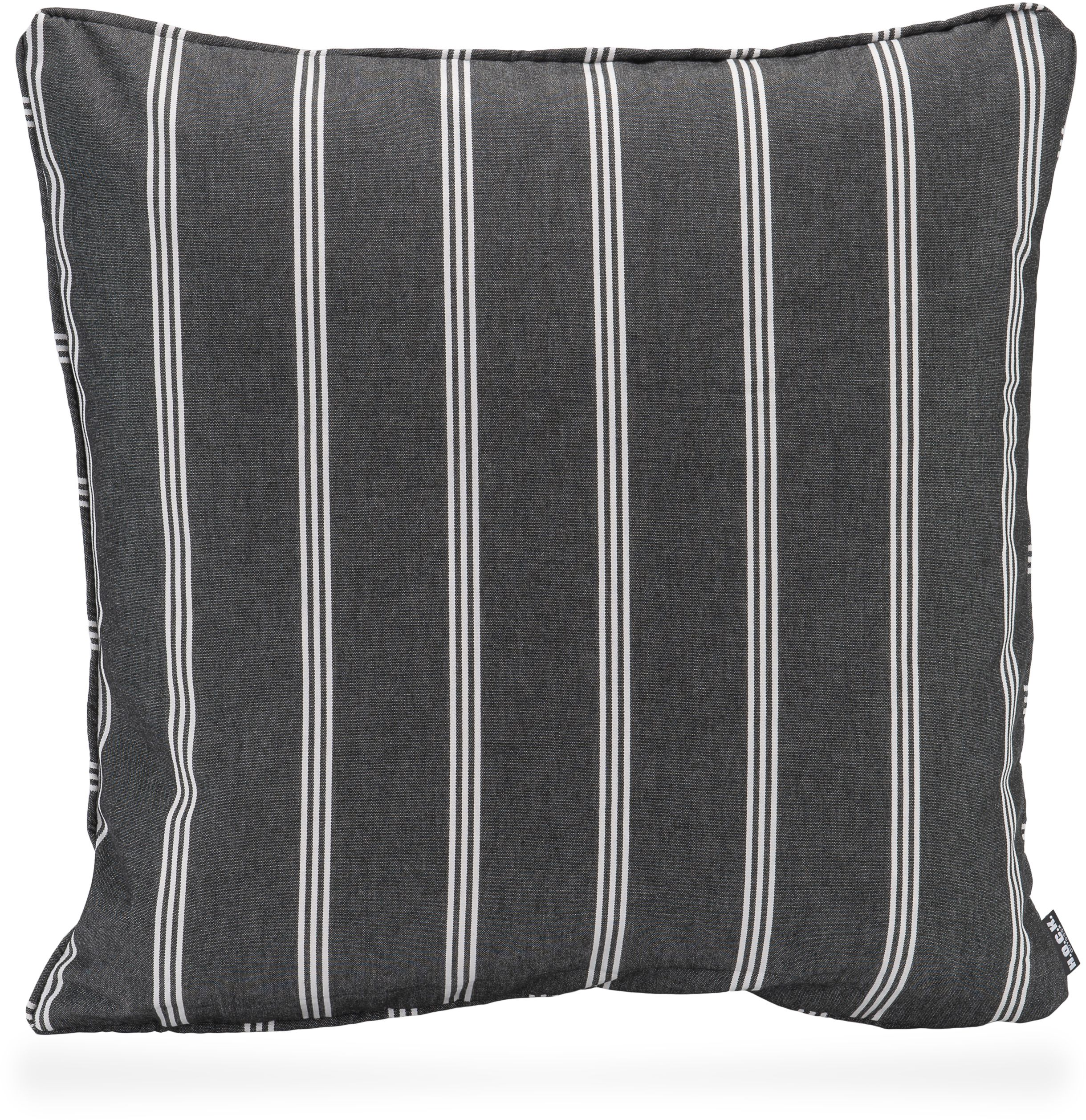 New England Outdoor Kissen 50x50 Black Stripes Kissen - Outdoor Kissen 50x50