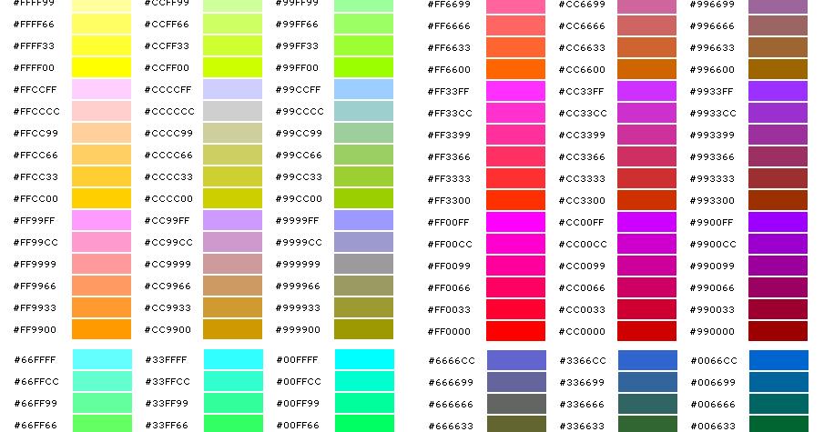 коды цветов с картинками том