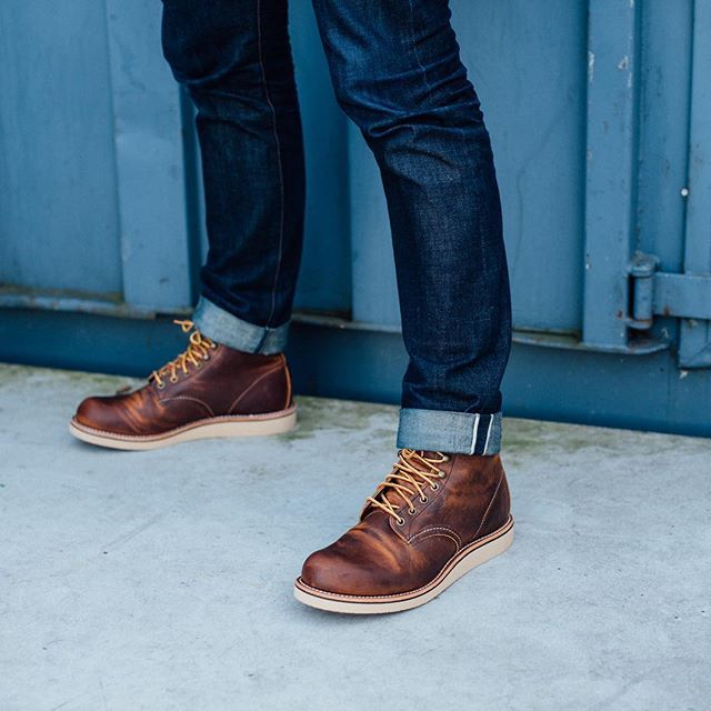 f9e80712 The Rover 6-inch round toe has Copper Rough & Tough leather, Goodyear welt  construction on a Coffee Cushion Crepe sole. Shop Now at Red Wing Heritage!