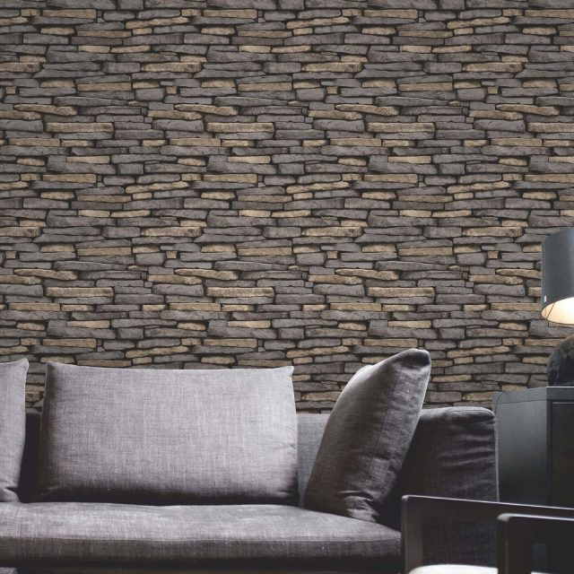 Cornish Stone Effect Wallpaper From B Q: 33 Idées Pour Embellir Maison