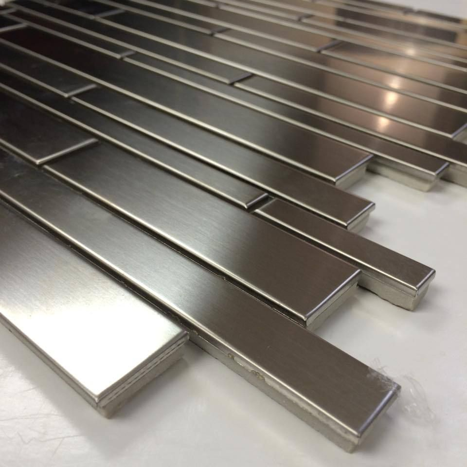 Stainless Steel Tile - Random Strip - Sale Price $9.49 Sq.Ft ...
