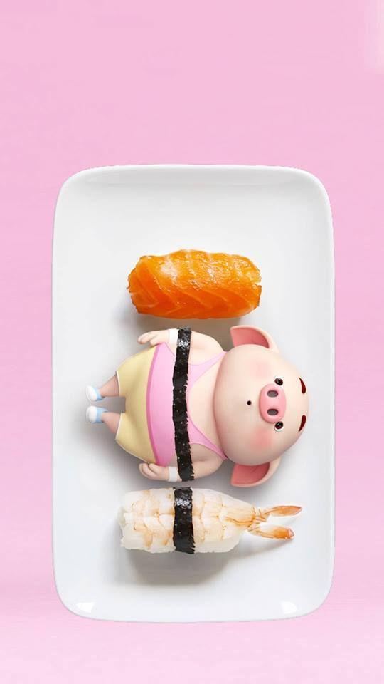 30 hình nền hoạt hình lợn con ủn ỉn tâm trạng cho điện thoại đẹp
