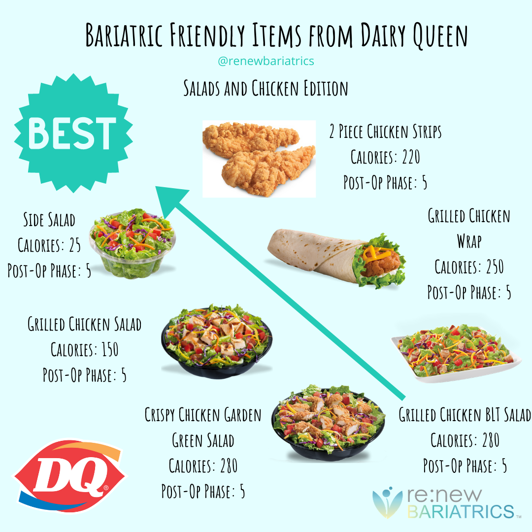Dairy Queen Is Now Known For More Than Just Their Soft Serve Ice Cream And Blizzards Over The Past Bariatric Eating Bariatric Friendly Recipes Wls Recipes