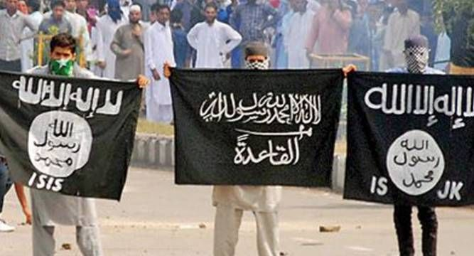 J K Pakistani And Isis Flags Again Waved In Srinagar After Friday