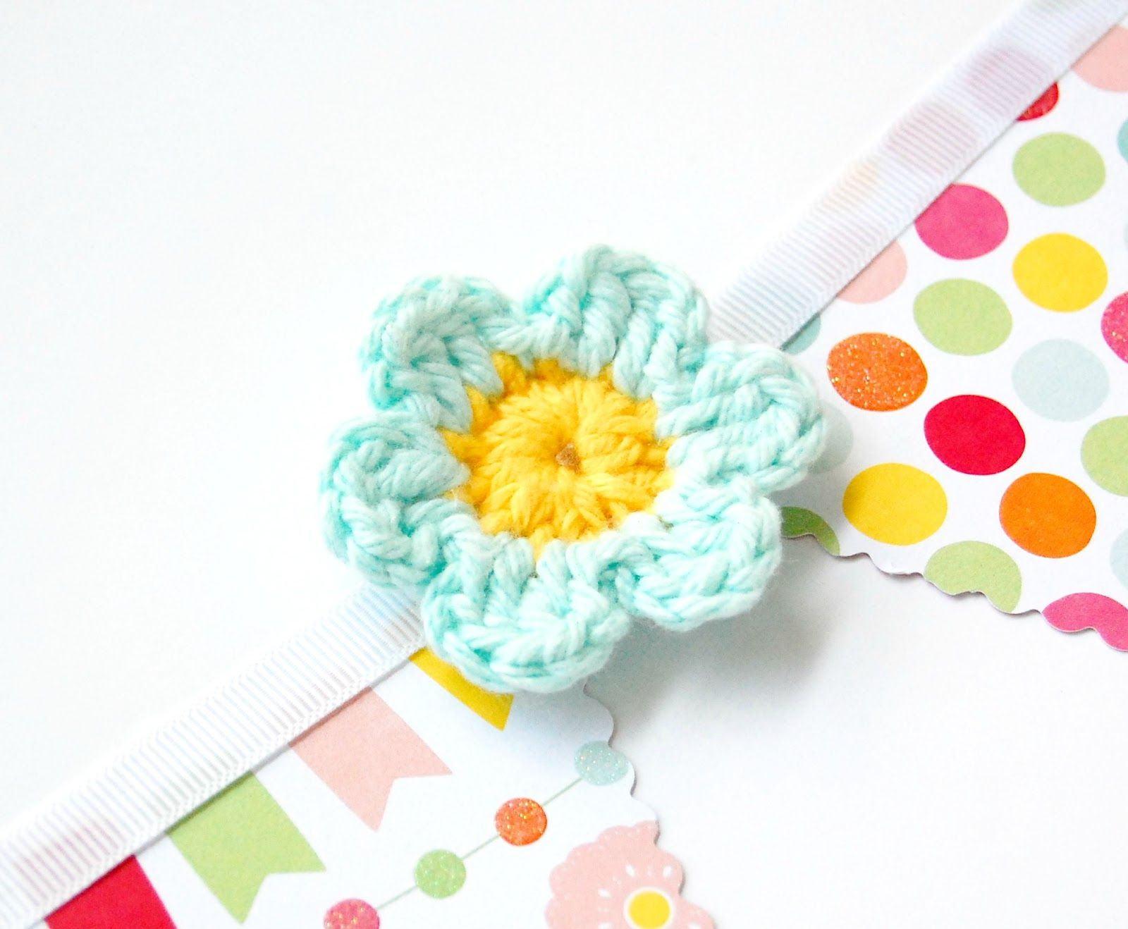 hopscotch lane: Paper Bunting and a Simple Crochet Flower Pattern ...