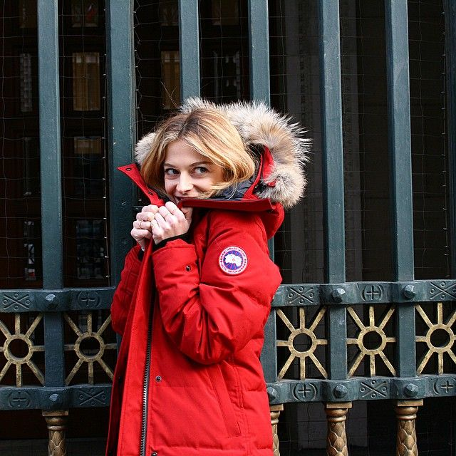 Canada Goose Official What Jacket Would An Arctic Explorer Wear Canada Goose Red Jacket Winter Outfits Warm Red Jacket Women