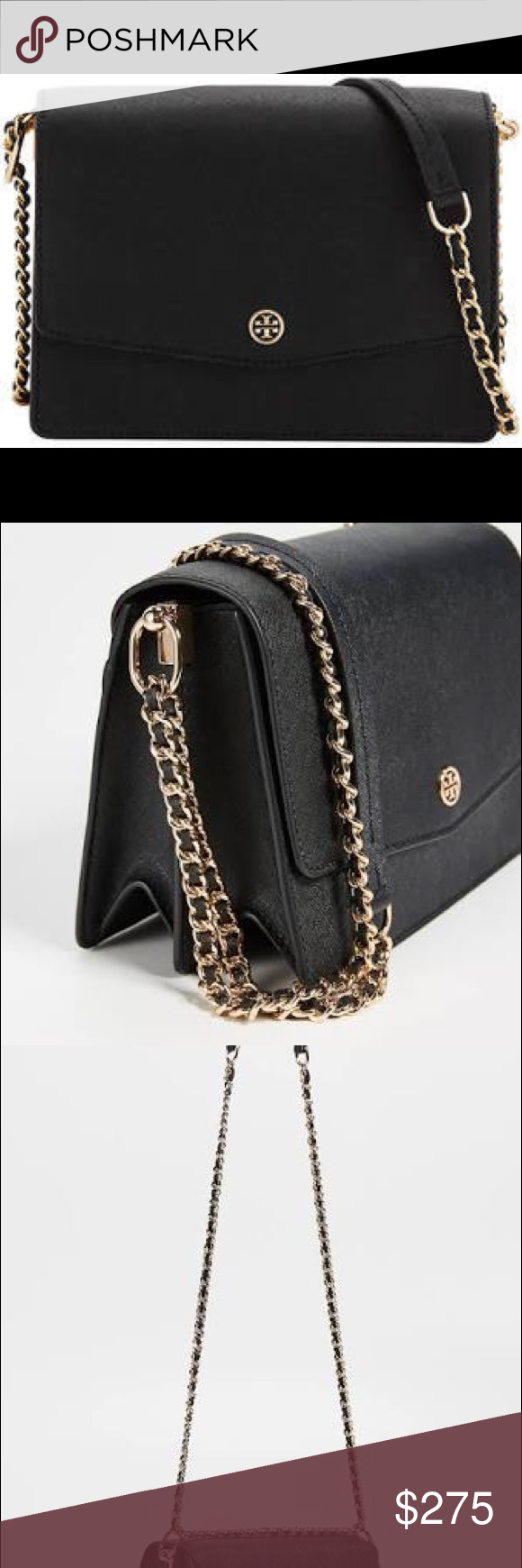 ee30ea5b142 Tory Burch mini bag Tory Burch Robinson Convertible Shoulder bag black Tory  Burch Bags Mini Bags