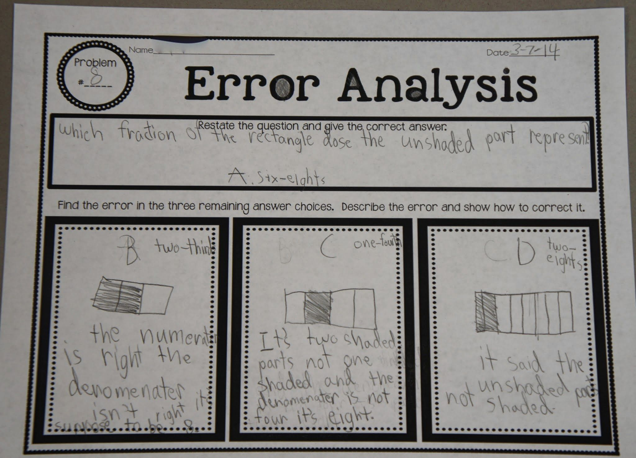 Errorysis Teach Students How To Take A Multiple Choice Test Through This Errorysis