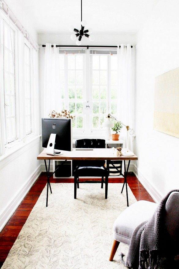 10 Tips for Creating the Ultimate At-Home Office   Small workspace ...