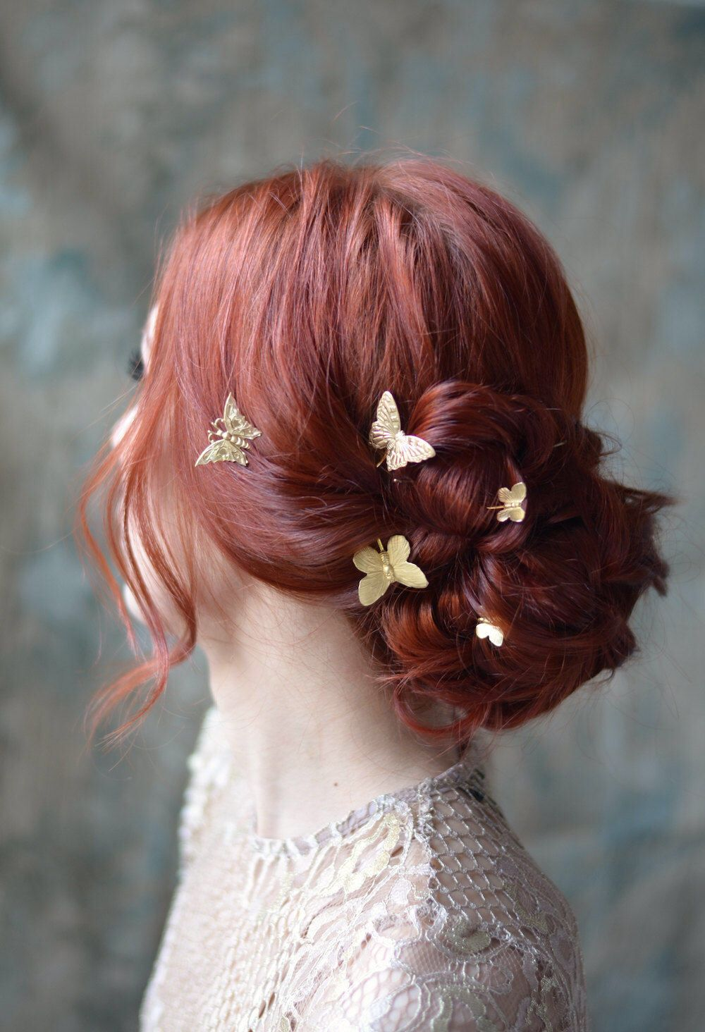 butterfly bobby pins golden hair pins gilded hair clips butterfly clip set gold adornments bridal hair clips wedding hair clip set in 2018 wedding