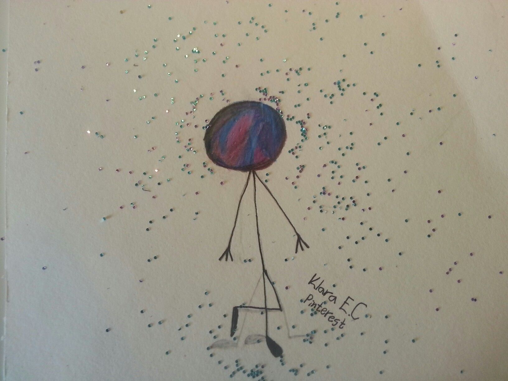 Just drawed this Galaxy Head. Please comment how I can improve my drawing. ^^