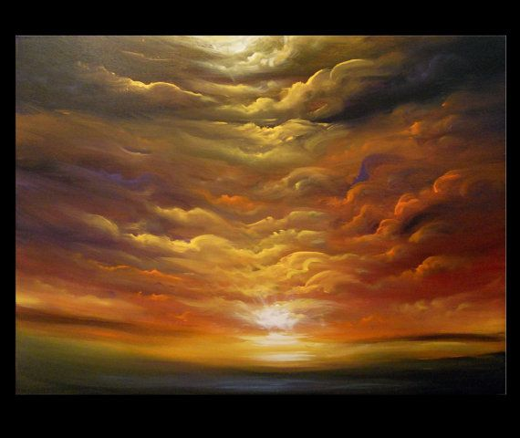 art abstract cloud painting original painting canvas wall art wall decor gift home decor large 40 x 30 x 1.5