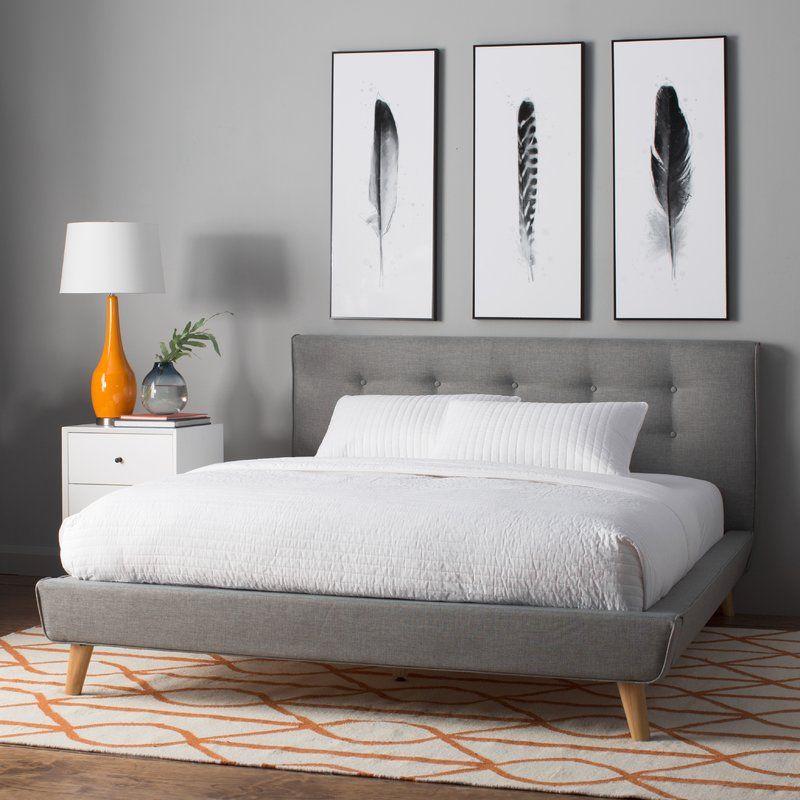 Rasmussen Upholstered Platform Bed Upholstered platform bed