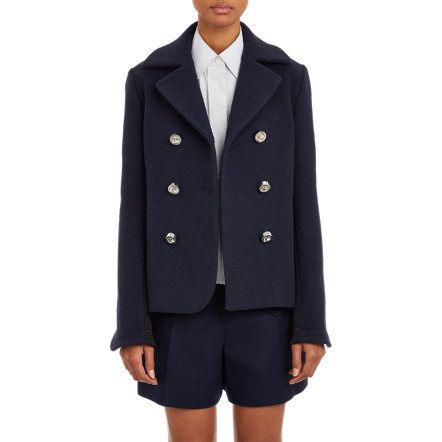 Paco Rabanne Cropped Peacoat at Barneys.com