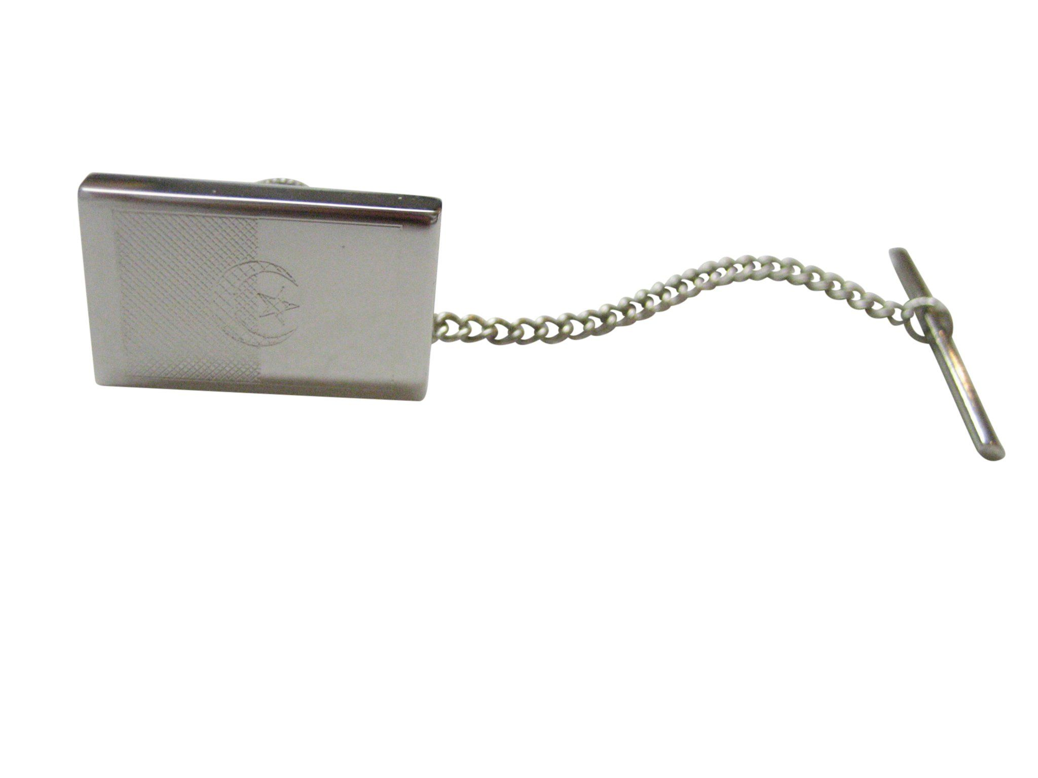 Silver Toned Etched Minnesota State Flag Tie Tack