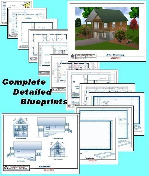 20x30 Cabin W Loft Plans Package Blueprints Material List 610373665753 Ebay Loft Plan Blueprints Garage Plans With Loft