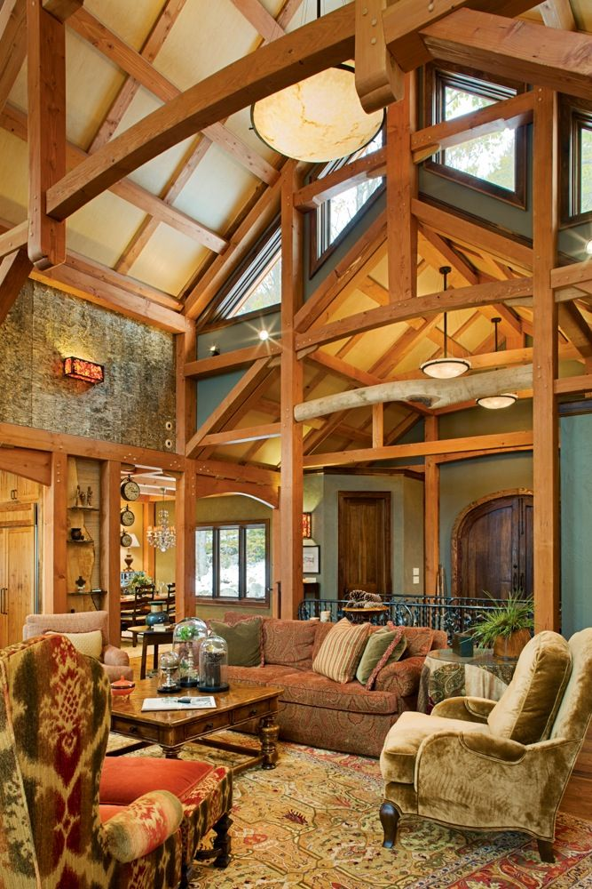 Great Room Timber Frame | Ramblestone in Tynecastle for sale | Pinterest
