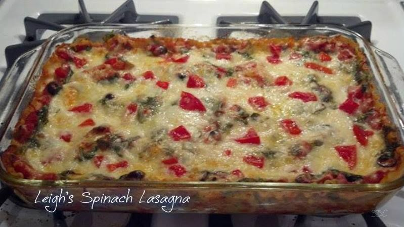 LEIGH'S SUPER SIMPLE SPINACH LASAGNA!!