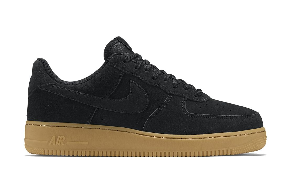 nike air force 1 07 suede sneakers dames zwart