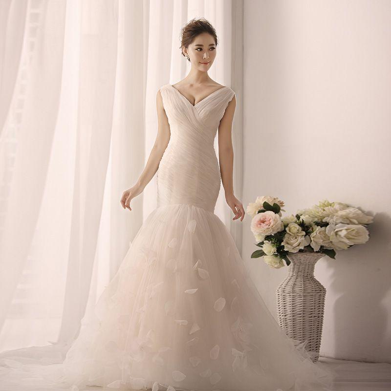 2013 nouvelle robe de mariée de Pompon et en queue de sirène et de doubles  épaules