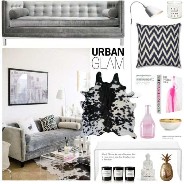 Urban Glam by emmy on Polyvore featuring interior, interiors ...