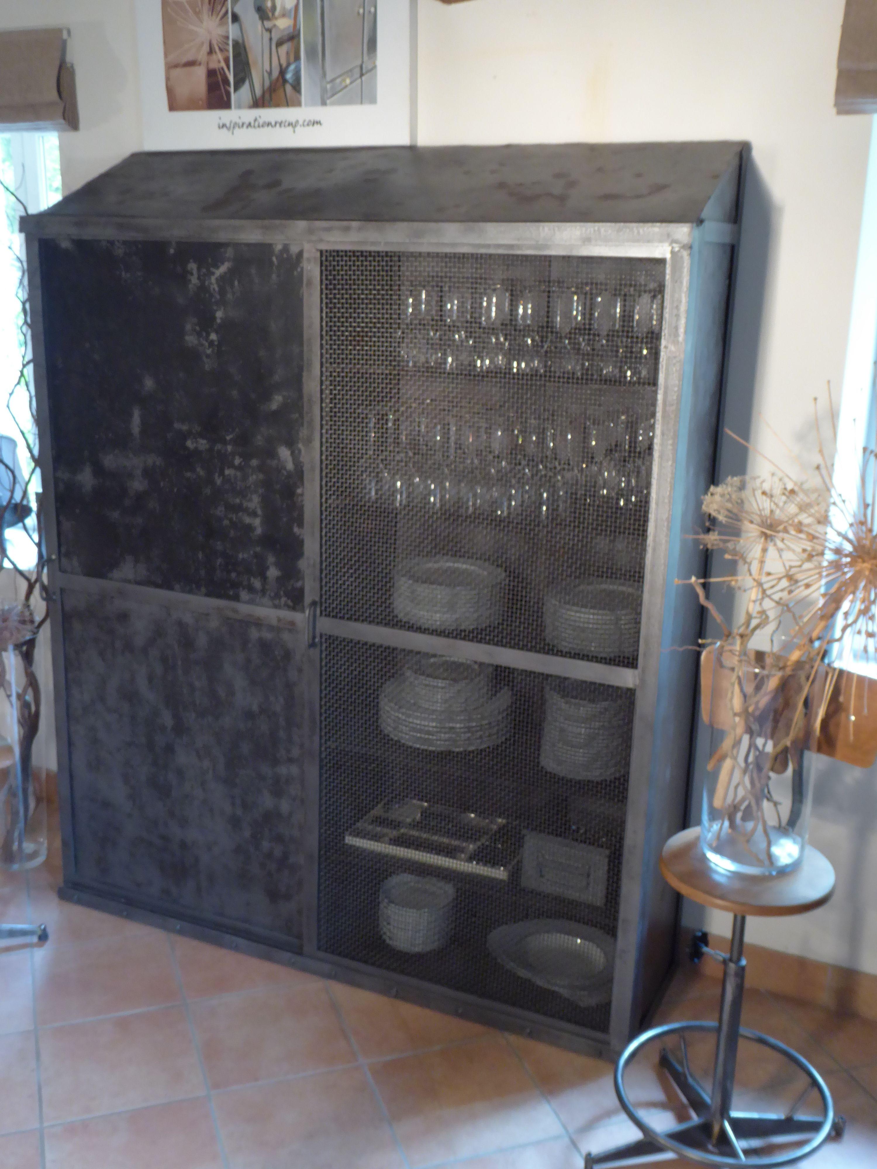 Meuble Sncf Industriel Xxl Grillage Inspirationrecup Com Vous Propose Ce Meuble Vintage Industrial Locker Storage Welding Projects