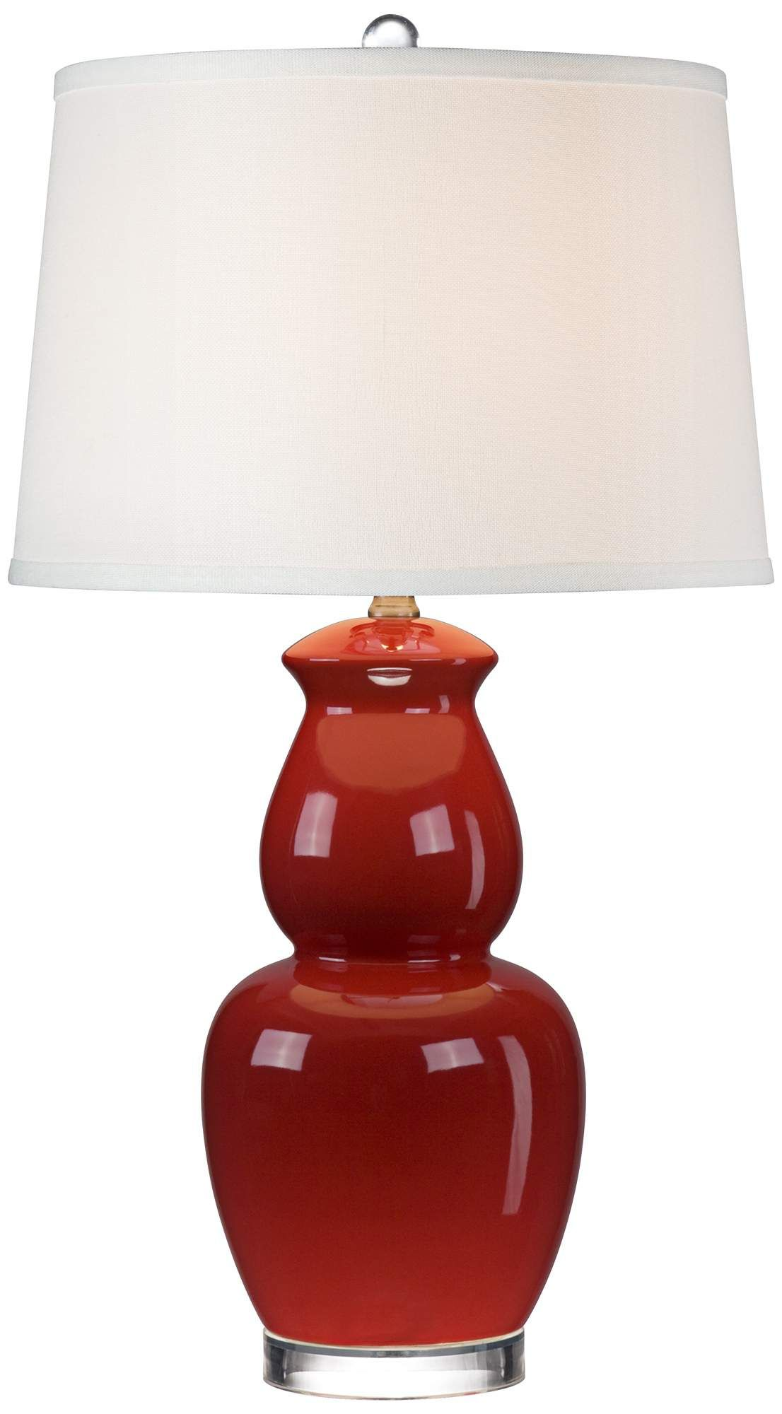 Red Double Gourd Ceramic Table Lamp 55downingstreet Com Light
