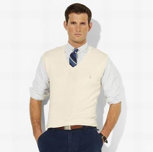 Cream Sweater Vest Baggage Clothing