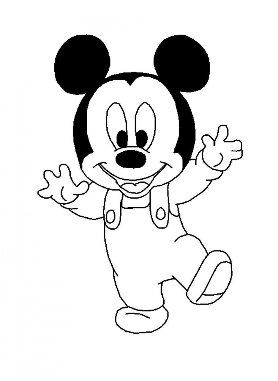 30 Pratique Dessin A Faire Pictures  Mickey coloring pages