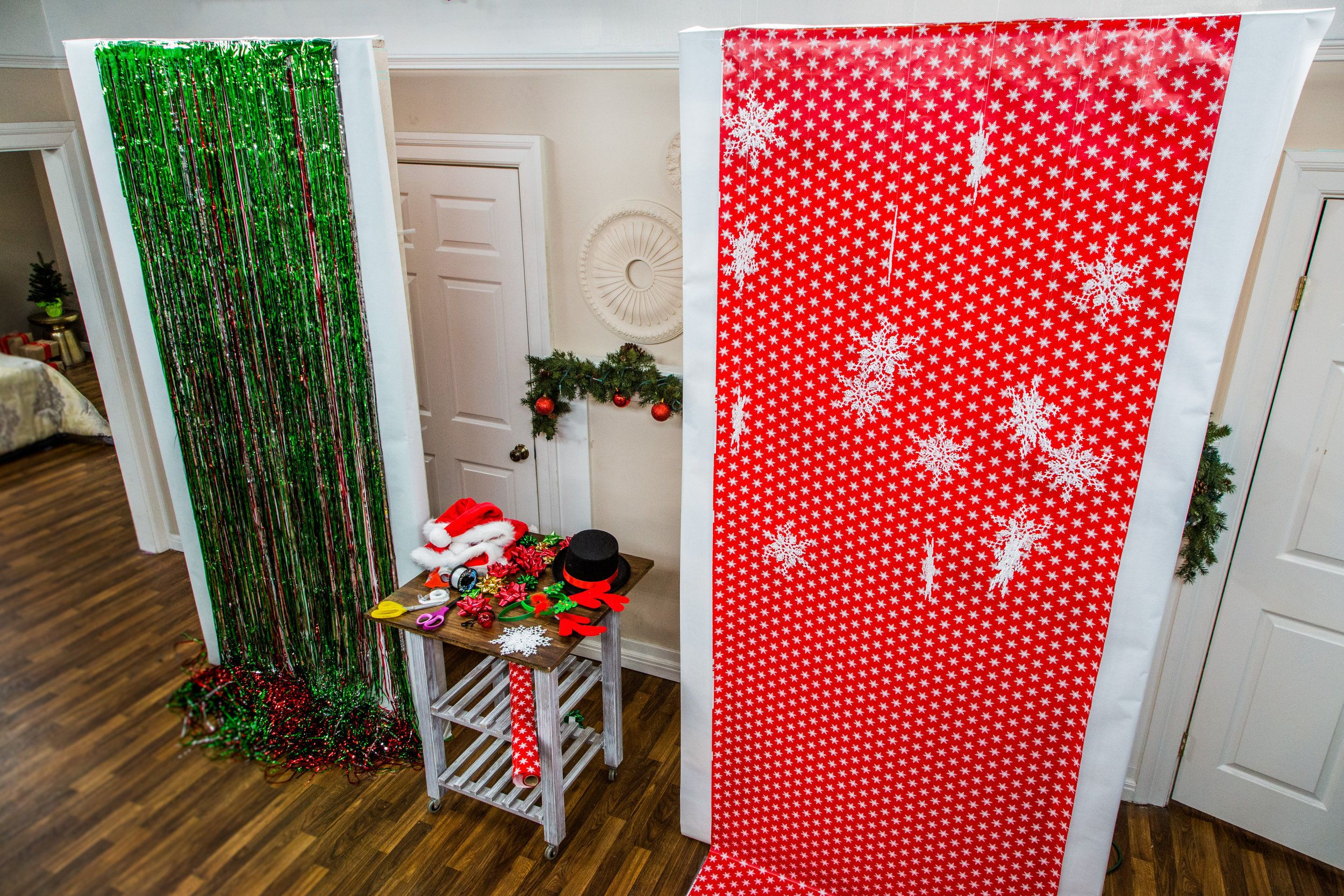A diy from maria provenzano great idea pinterest holidays and box another wrapping paper from hobby lobby do it yourself another christmas photo booth backdrop ideas wrapping paper from hobby lobby solutioingenieria Image collections